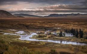 Picture Iceland, Arnessysla, Island, national park of Þingvellir