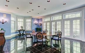 Picture room, interior, dining room, Reisterstown