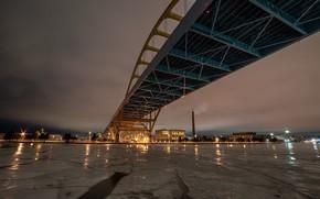 Picture bridge, the city, river
