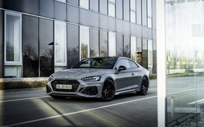 Picture Audi, street, the building, coupe, RS 5, 2020, RS5 Coupe