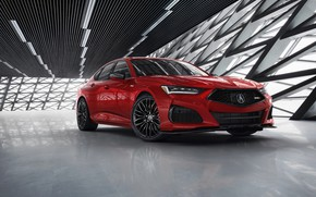 Picture red, sedan, Type S, Acura, TLX, four-door, 2021