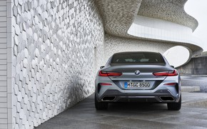 Picture wall, coupe, BMW, rear view, Gran Coupe, 8-Series, 2019, the four-door coupe, Eight, G16