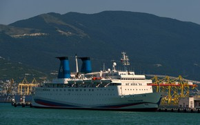 Picture ship, port, Novorossiysk, Prince Vladimir