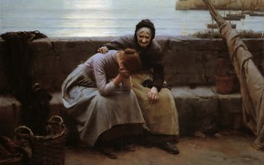 Picture to Evening but Some Heart Did Break, Never Morning Wore, Walter Langley