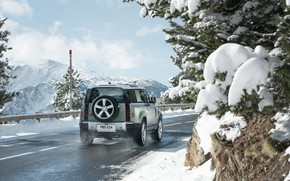 Picture snow, Land Rover, snow, Defender, Land Rover Defender, Land Rover Defender 90 D240 SE, 90 …