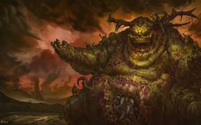 Picture the demon, demon, chaos, chaos, Nurgl, Warhammer, plague, Warhammer 40 000, plague, Nurgle, The Great …