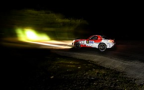 Picture light, night, rally, 2018, Abarth, 124 Rally