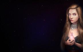 Picture Girl, Figure, Stars, Eyes, Piercing, Art, Art, Evi, madeinkipish, by Alexander Linblack, Alexander Linblack