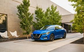Picture auto, blue, Nissan, Sentra