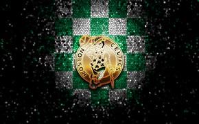 Picture wallpaper, sport, logo, basketball, NBA, Boston Celtics, glitter, checkered