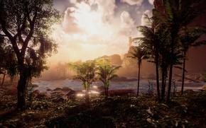 Picture landscape, river, jungle, exclusive, Playstation 4, Guerrilla Games, Horizon Zero Dawn