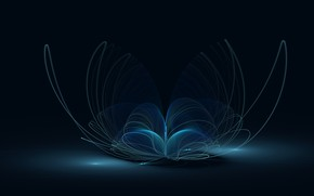Picture blue, background, dark