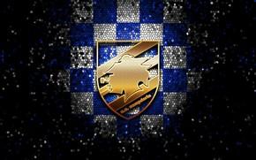 Picture wallpaper, sport, logo, football, glitter, checkered, Sampdoria