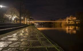 Picture England, Chester, River Dee, Chester Castle, Queens Park Bridge