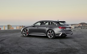 Picture Audi, rear view, Before, RS6, RS 6, 2019