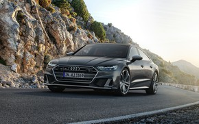 Picture Audi, Audi A7, on the road, 2019, S7 Sportback