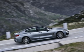 Picture coupe, BMW, side view, Gran Coupe, the rise, 8-Series, 2019, the four-door coupe, Eight, G16, …