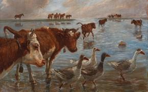Picture 1909, Danish painter, Danish painter, Theodor Esbern Philipsen, Theodor Philipsen, The David Collection Copenhagen, The …