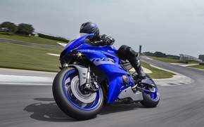 Picture track, curve, Yamaha R6 Race