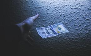 Picture Green, Benjamin Franklin, Dollar, Shadow, Money, 100, Hand