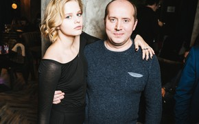 Picture look, pose, actors, two, Alexandra Bortech, Alexandra Bortich, Sergey Burunov