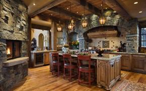 Picture room, interior, kitchen