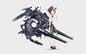 Picture girl, weapons, gun
