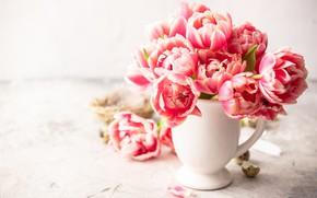 Picture flowers, tulips, vase, Iryna Melnyk