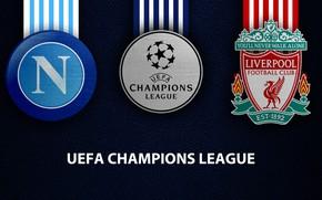 Picture wallpaper, sport, logo, football, Liverpool, Napoli, UEFA Champions League, Napoli vs Liverpool