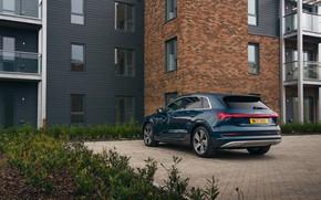 Picture house, Audi, Parking, E-Tron, 2019, UK version