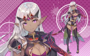 Picture girl, elf, elf, blade, Bullet Girls Phantasia