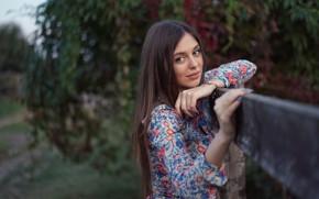 Picture look, smile, hair, Girl, dress, Sergey Churnosov