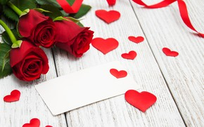 Picture love, roses, hearts, red, red, love, romantic, hearts, valentine's day, roses