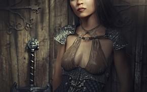 Picture look, girl, rendering, graphics, fantasy, costume, warrior, computer
