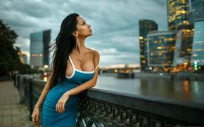 Picture chest, girl, the city, model, Dmitry Filatov, Dmitry Filatov, Filatoff