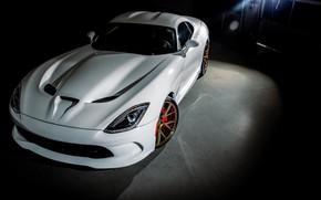 Picture Dodge, Viper, White, American, SRT, Vossen