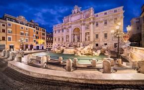 Picture Rome, Italy, The Vatican, Roma, Trevi fountain