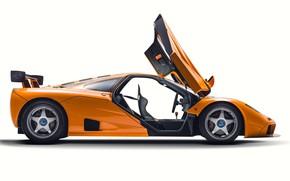 Picture Orange, Door, Supercar, Side view, 1995, McLaren F1 LM