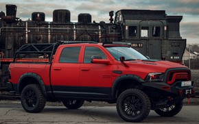 Picture red, tuning, Dodge, pickup, 1500, Ram, Crew Cab, Limited, JB Car Design