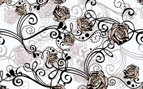 Picture background, pattern, roses