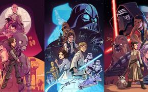 Picture art, Star wars, posters, Derek Laufman