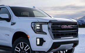 Picture the front part, GMC, SUV, Yukon, AT4, 2020, 2021