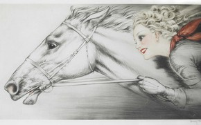 Picture 1938, Louis Icart, Thoroughbred