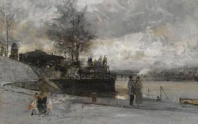 Picture the urban landscape, Luigi Loir, Luigi Loir, The Banks Of The Seine. Paris