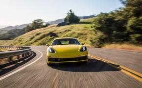 Picture Porsche, Cayman, front view, GTS, 718, 2019