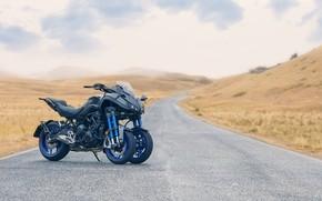 Picture road, the sky, photo, motorcycle, yamaha, Yamaha Niken