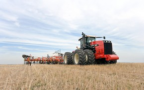 Picture field, tractor, agriculture, versatile 400