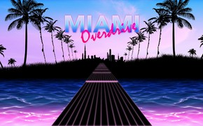 Picture Road, Music, Guitar, Miami, 80s, Neon, Strings, 80's, Synth, Retrowave, Overdrive, Synthwave, New Retro Wave, …