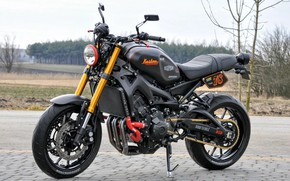 Picture black, tuning, motorcycle, is, Yamaha, moto, tuning, custom, Yamaha XSR900, city bike