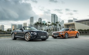 Picture machine, building, coupe, Bentley, Continental, convertible, GT V8